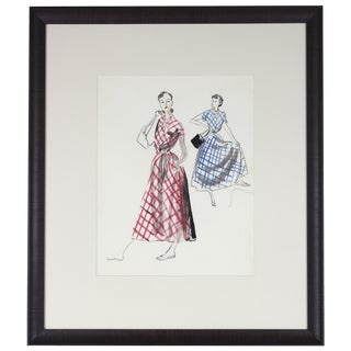 Mid Century Fashion Illustration