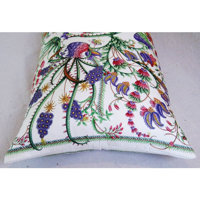 Designer Italian Gucci Floral Fanni Silk Pillow - Image 8 of 11