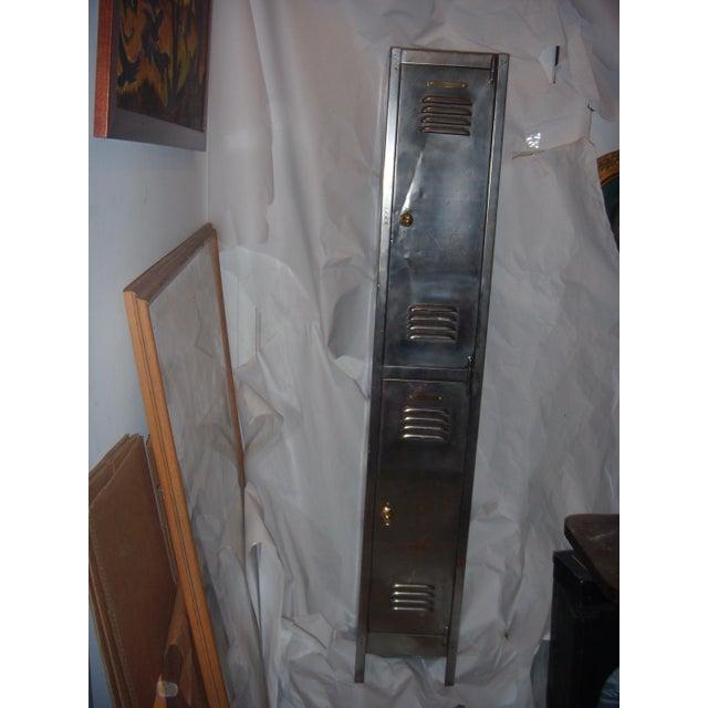 Old English Polished Metal Locker - Image 2 of 11
