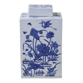 Sarreid Ltd Blue & White Porcelain Jar
