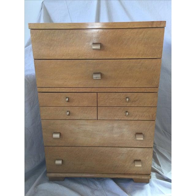 1950s Birdseye Maple Tallboy Dresser - Image 2 of 9