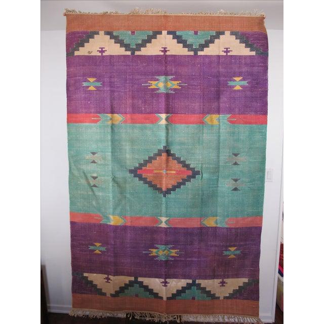 Santa Fe Flat Weave Rug - 4′ × 6′ - Image 3 of 4