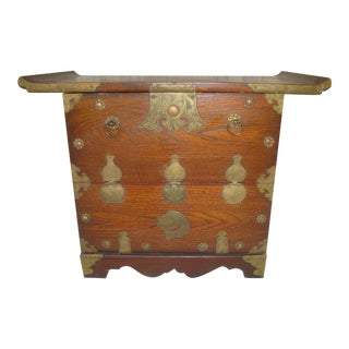 Petite Chinoiserie Altar Table With Cabinet