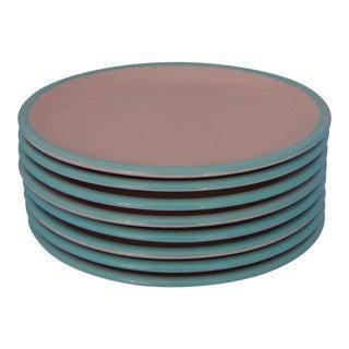 Mid-Century Stoneware Salad or Dessert Plates- Set of 8