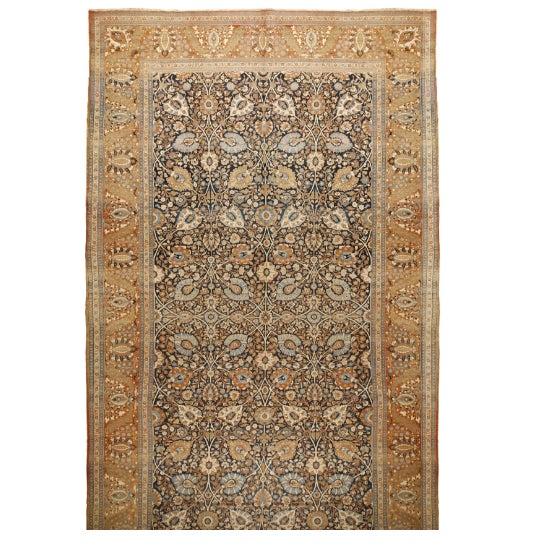 Antique Tabriz Carpet - Image 1 of 1