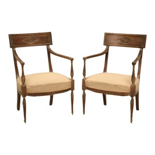 French Directoire Style Armchairs - A Pair
