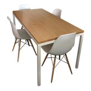 Room & Board Pratt Table & Eames Style Chairs - Set of 5