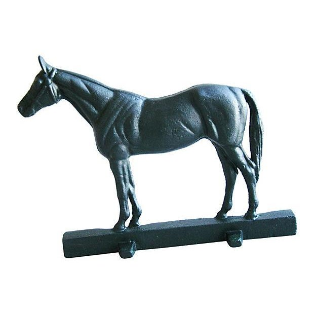 Image of Mid-Century Cast Iron Horse Doorstop