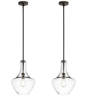 Glass Pendant Lights - A Pair