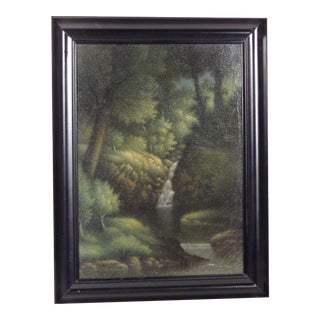 Waterfall, Landscape Oil Painting