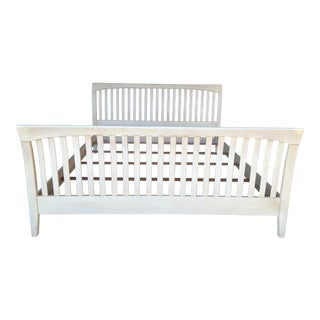 Ethan Allen King Size Slatted Sleigh Bed