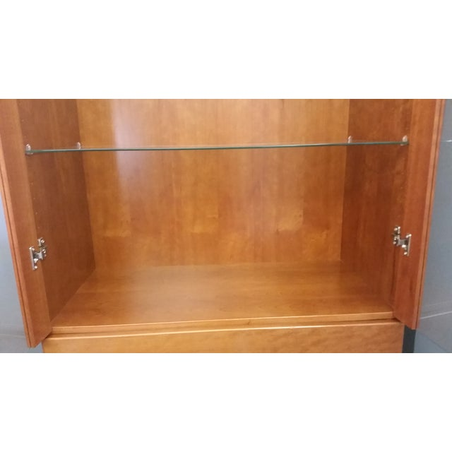 Image of Skovby #352 Display Cabinet in Cherry Wood