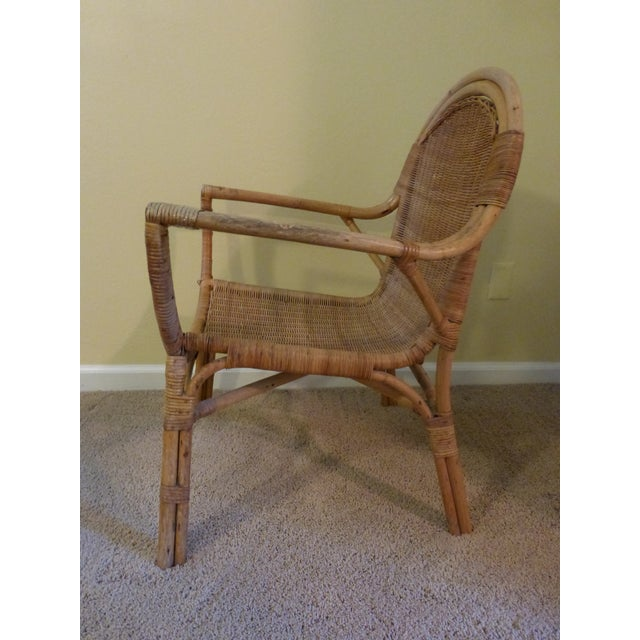 Vintage Rattan & Bamboo Chair - Image 3 of 8