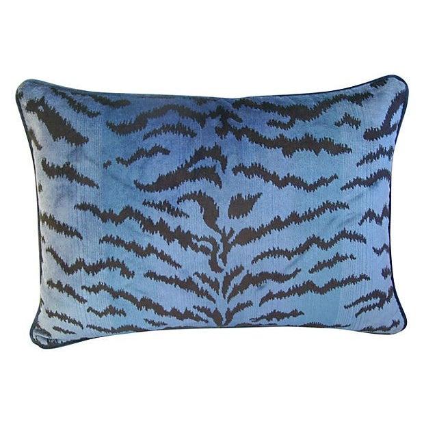 Blue & Black Scalamandre Le Tigre Pillow - Image 3 of 3
