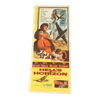 Vintage 1950's Hell's Horizon Movie Poster