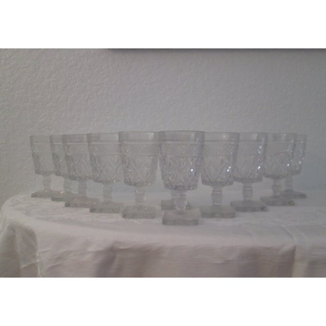 Mid-Century Footed Glass Tumblers - Set of 12 - Image 2 of 5
