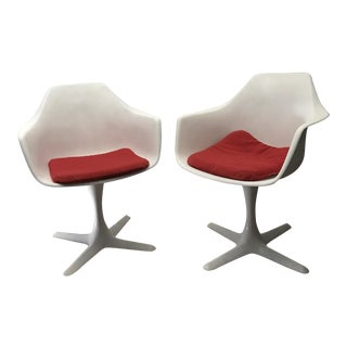 Mid-Century Modern Burke Tulip Chairs - A Pair