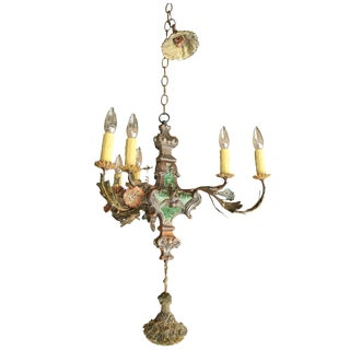 Small Painted Italian Chandelier