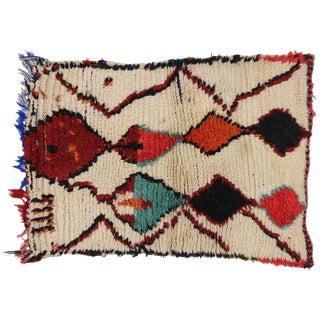 Vintage Berber Moroccan Azilal Rug - 1'8 X 2'4