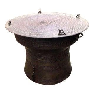 Pair of Bronze Rain Drum Tables