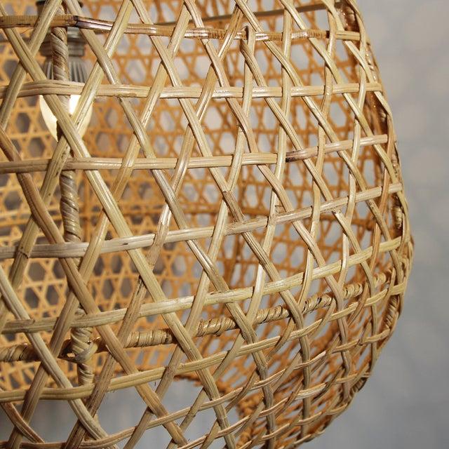 Rattan Basket Tear Drop Lantern Chairish