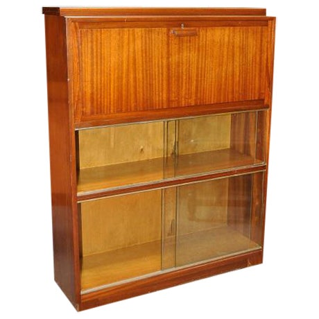 1950's Mid- Century Modern Drop Front Desk With Bookcase - Image 1 of 3