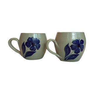 Williamsburg Pottery Cups - A Pair