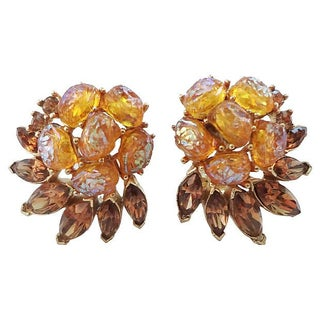 1959 Trifari Etoile Runway Couture Earrings