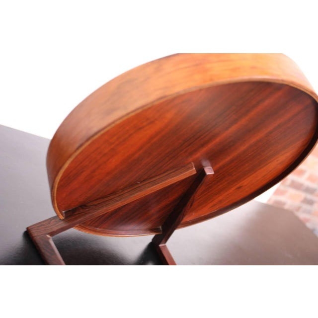 Image of Swedish Rosewood Table Mirror by Uno and Östen Kristiansson for Luxus