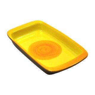 MCM Swedish Yellow/Orange Stoneware Tray