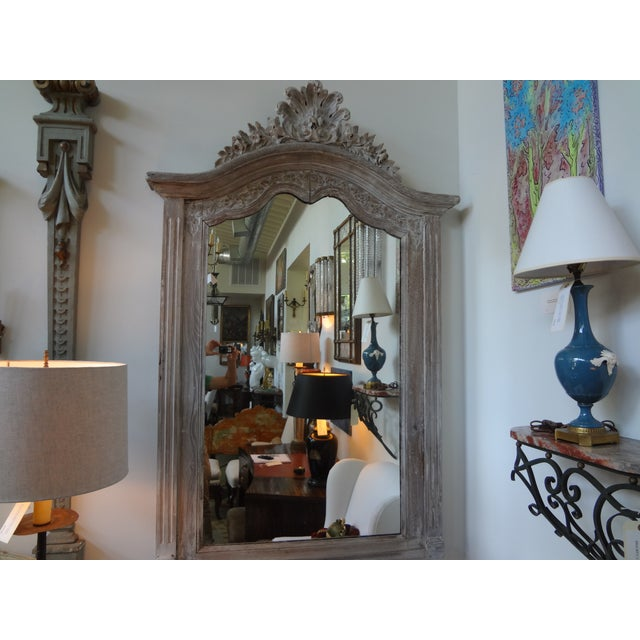 Antique 19th C. French Louis XV Painted Mirror - Image 7 of 7