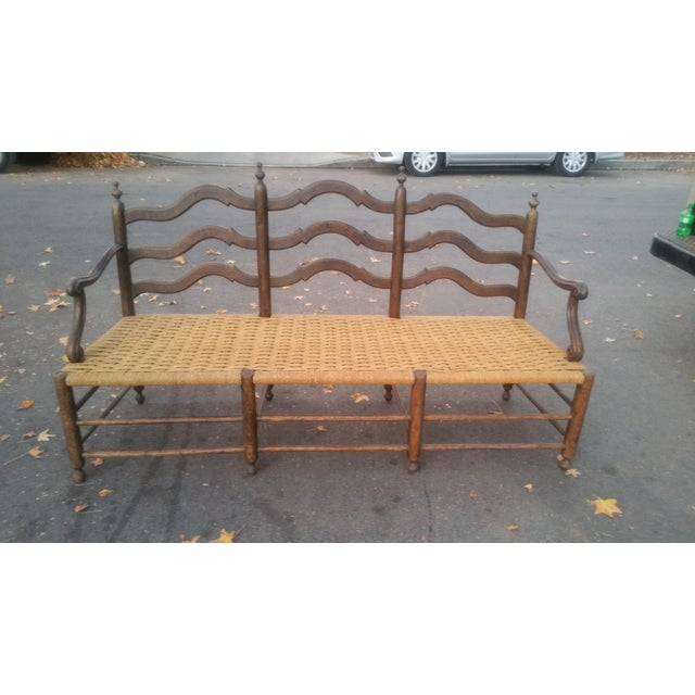 Image of Antique Victorian Wooden Bench