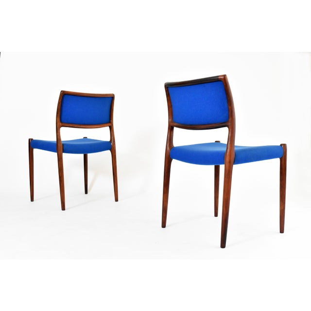 Danish Modern Niels Moller #80 Rosewood Dining Chairs - Set of 4 - Image 4 of 10