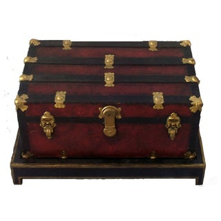 1900's Steamer Trunk With Stand