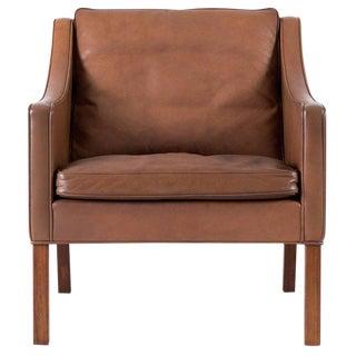 Børge Mogensen Model #2207 Leather Lounge Chair