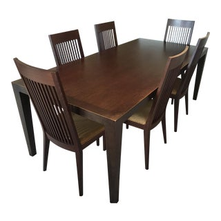 Room & Board Bamboo Table & Chairs - Set of 7