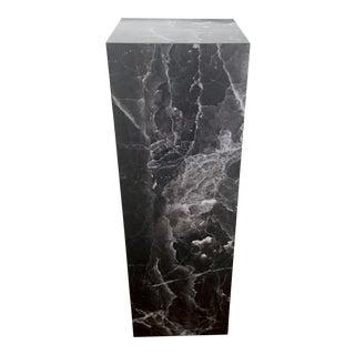 Vintage Faux Marble Rectangular Pedestal
