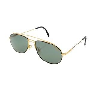 Carrera Black & Gold Aviator Sunglasses