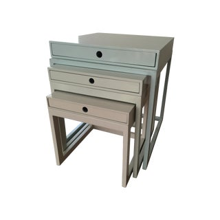 Serena & Lily Pastel Nesting Tables - Set of 3