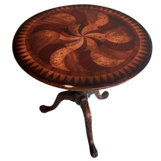 Wood Inlay Side Table
