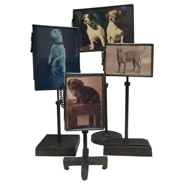 Vintage Metal Standing Picture Frames - Set of 4 - Image 1 of 8
