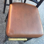 Image of Vintage McGuire Rattan Brass Bar Stools- A Pair