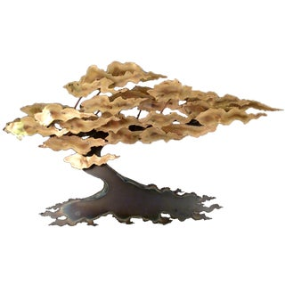 Signed Ross Metal Wall Tree Sculpture
