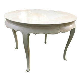 Henredon Lacquered Goatskin Dining Table