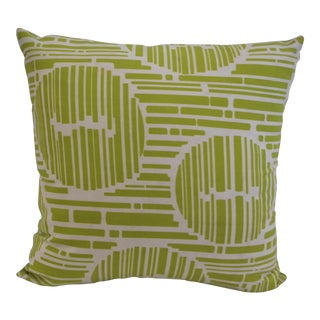 Modern Green Geometric Pillow