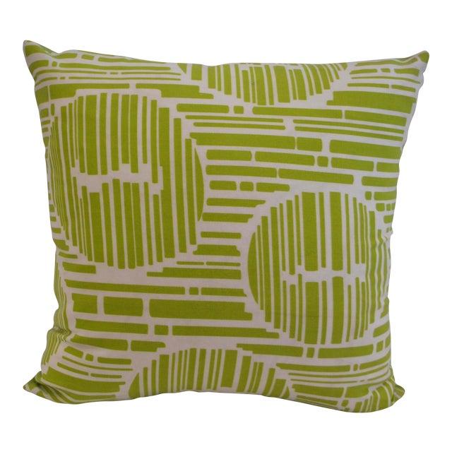 Modern Green Pillow : Modern Green Geometric Pillow Chairish