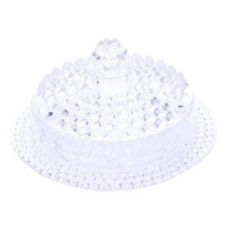 Hobnail Glass Lidded Dish