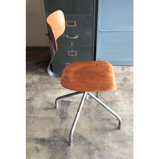 Vintage French Industrial Factory Stools - 4 - Image 3 of 10