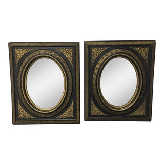 Vintage Decorative Wall Mirrors - A Pair