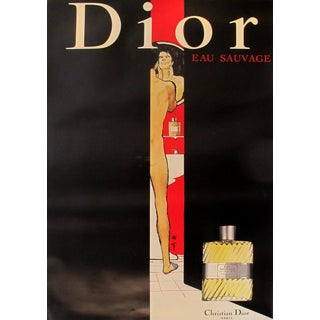 Vintage Christian Dior Eau Sauvage Perfume Poster
